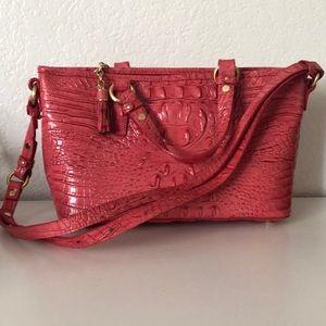 Brahmin tulip color purse with mini cosmetics bag